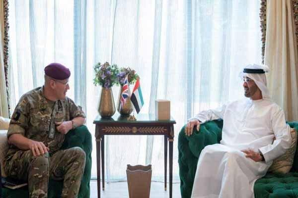 رایزنی مقام ارشد نظامی انگلیس با ولیعهد ابوظبی