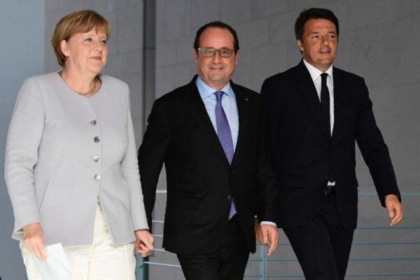 رهبران آلمان، فرانسه و ایتالیا دوشنبه آینده دیدار می نمایند