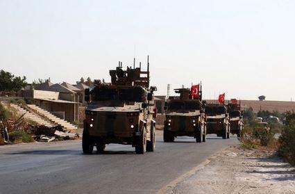 استقرار نظامیان ترکیه در حومه حماه همزمان با پیشروی ارتش سوریه