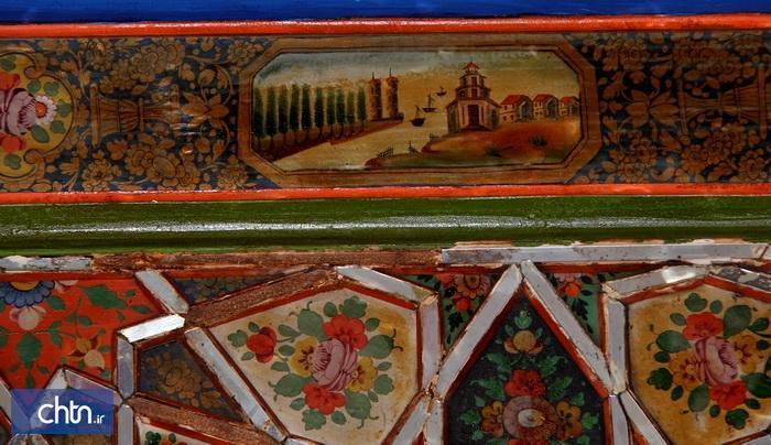 نقاشی روی چوب، ویژگی تزئینی خانه های قاجاری قزوین