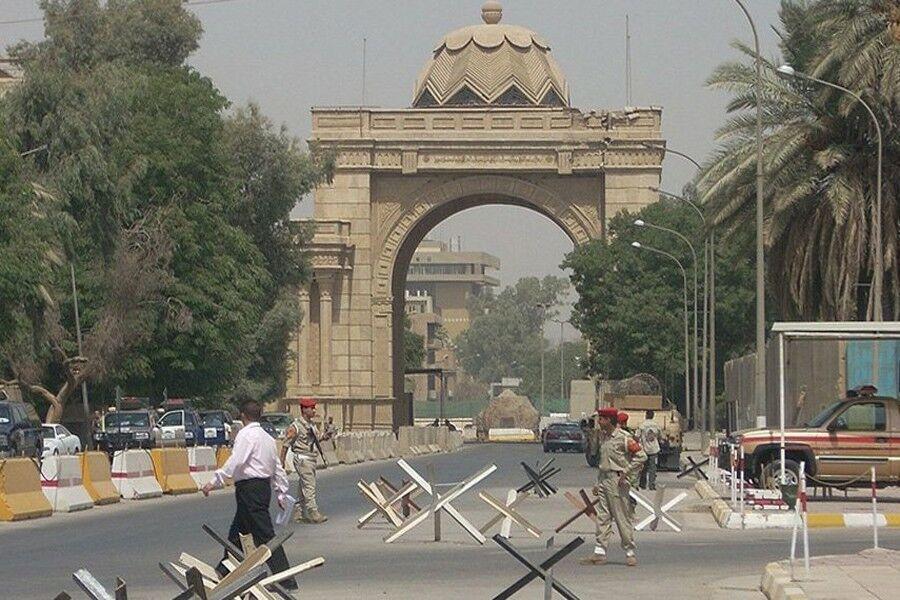 خبرنگاران العربیه مدعی اصابت راکت به منطقه سبز بغداد شد