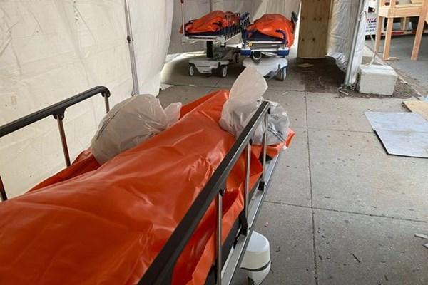 عکس، ازدحام کشته های کرونایی در راهرو های بیمارستان نیویورک