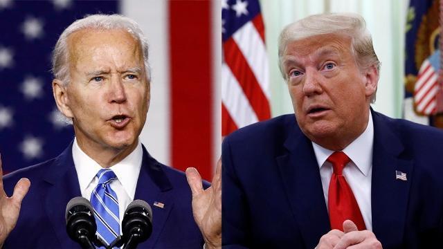 جو بایدن 15 درصد از ترامپ پیش افتاد