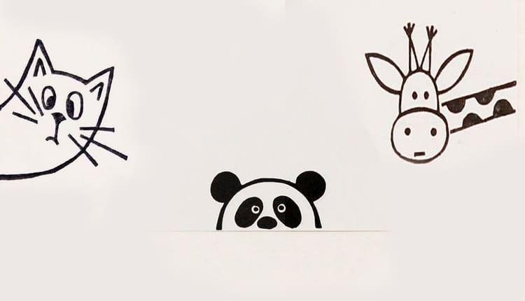 آموزش نقاشی بچگانه ساده و آسان، به صورت گام به گام