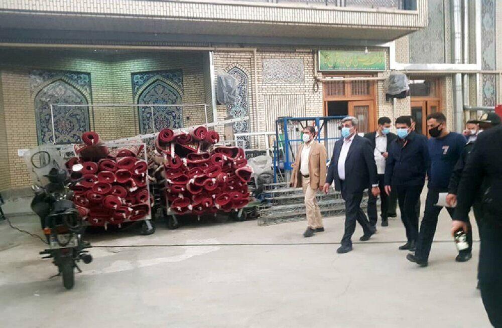 بازدید شهردار تهران از آخرین شرایط بازسازی و ایمن سازی مسجد ارک