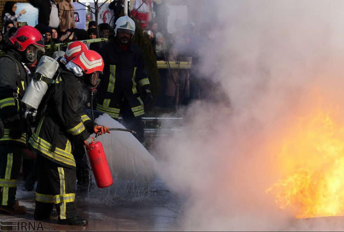 آتش سوزی در ساختمان اداری شهرداری پلدختر