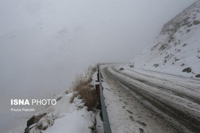 سیطره مه بر گردنه های کوهستانی زنجان