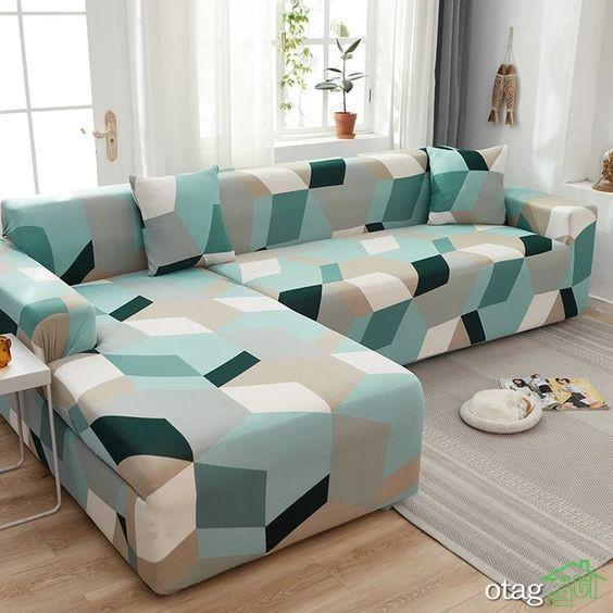 مبل ال رنگی با طراحی مدرن و جدید مناسب خانه های کوچک