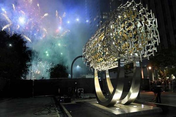 از مجسمه منشور کوروش در آمریکا رونمایی شد