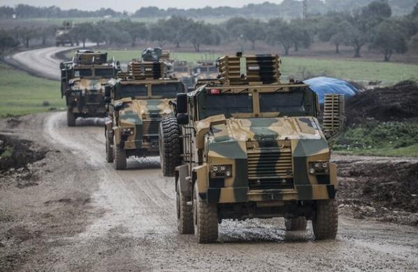 ورود سومین کاروان نظامی ترکیه به ادلب از ابتدای ماه جاری