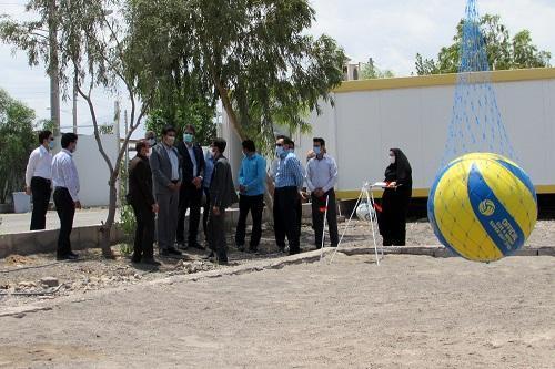 افتتاح زمین والیبال ساحلی خوابگاه دانشجویی دانشگاه علوم پزشکی بم