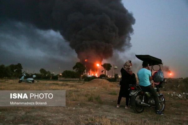 حادثه آتش سوزی در پالایشگاه مصدومی داشته است؟