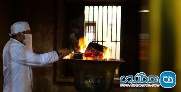 انجام مراسم تغذیه آتش مقدس 1500 ساله زرتشتیان یزد در روزهای کرونایی